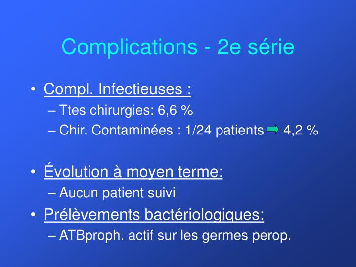 Complications - 2e série