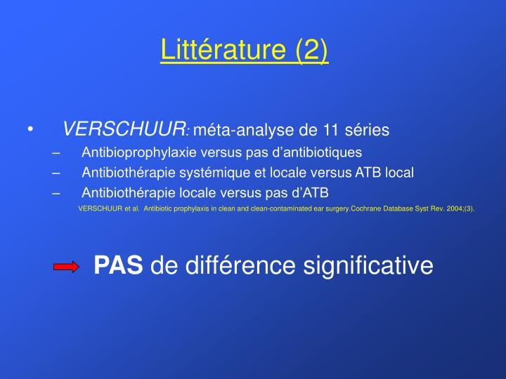 Littérature (2)