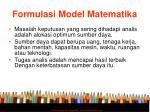 formulasi model matematika