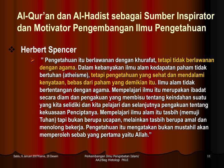Al-Qur'an dan Al-Hadist sebagai