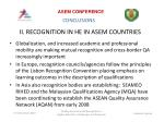 ii recognition in he in asem countries