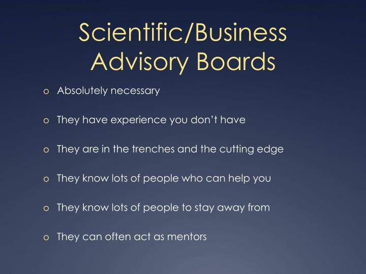 Scientific/Business
