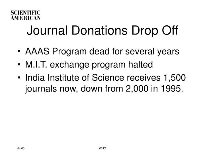 Journal Donations Drop Off