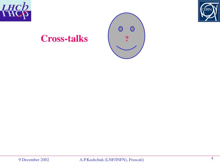 Cross-talks