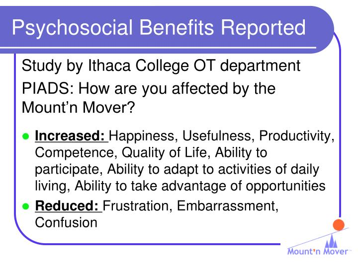 Psychosocial Benefits Reported