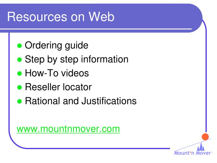 Resources on Web