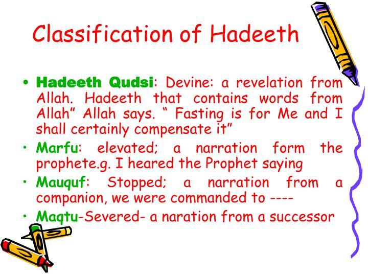 Classification of Hadeeth