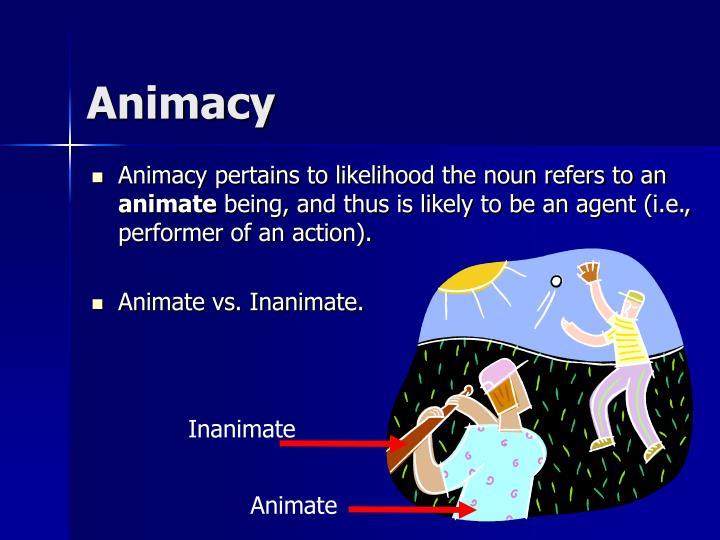 Animacy