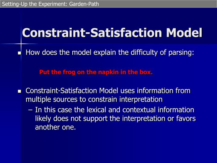 How does the model explain the difficulty of parsing: