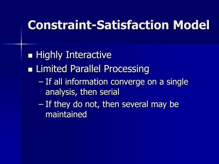 Constraint-Satisfaction Model