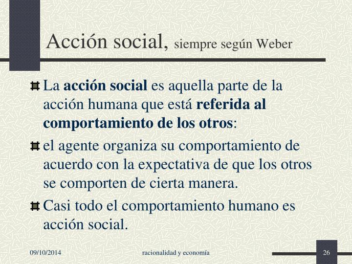 Acción social,