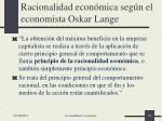 racionalidad econ mica seg n el economista oskar lange