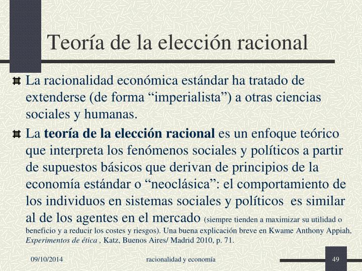 Teoría de la elección racional