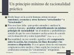un principio m nimo de racionalidad pr ctica