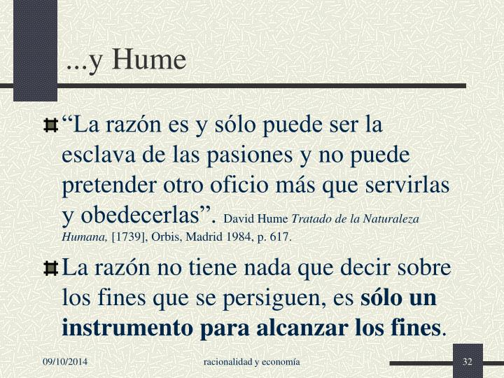 ...y Hume