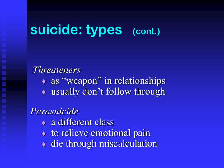 suicide: types