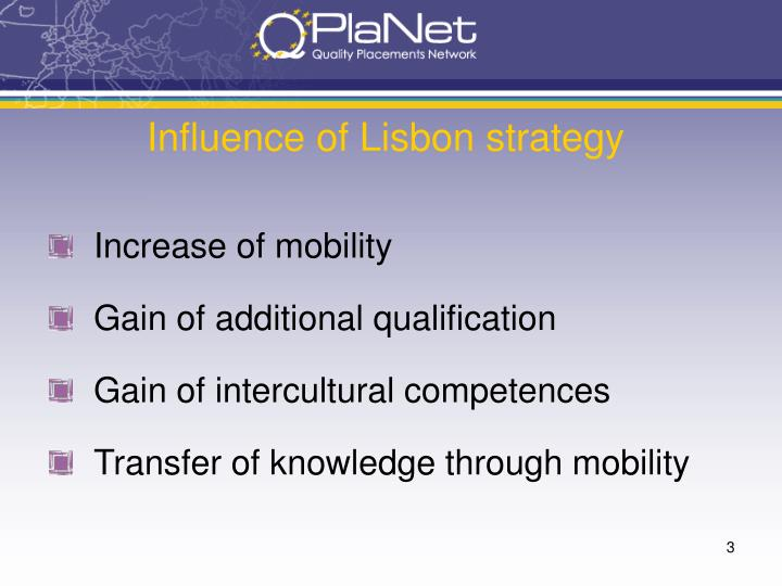 Influence of Lisbon strategy