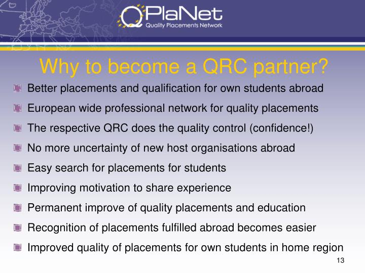 Why to become a QRC partner?