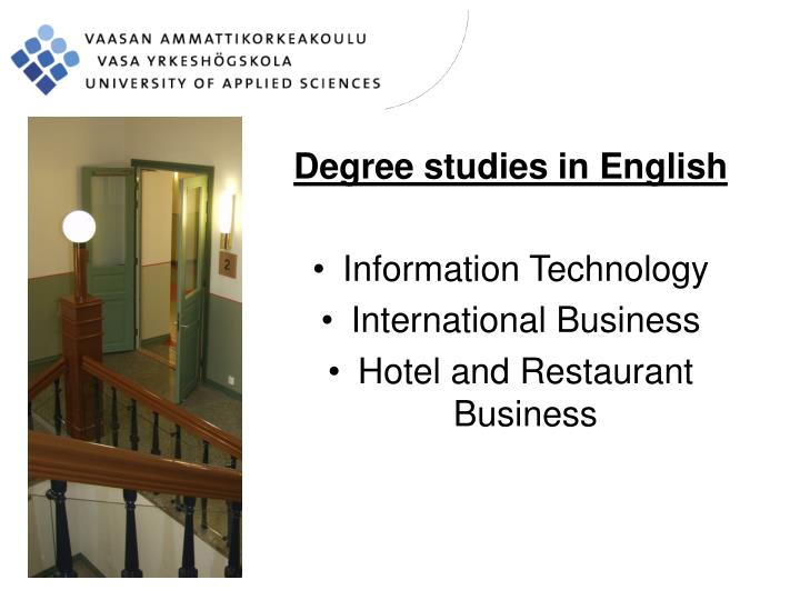 Degree studies in English