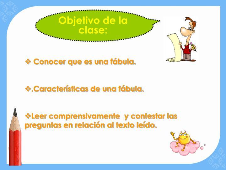 Objetivo de la clase: