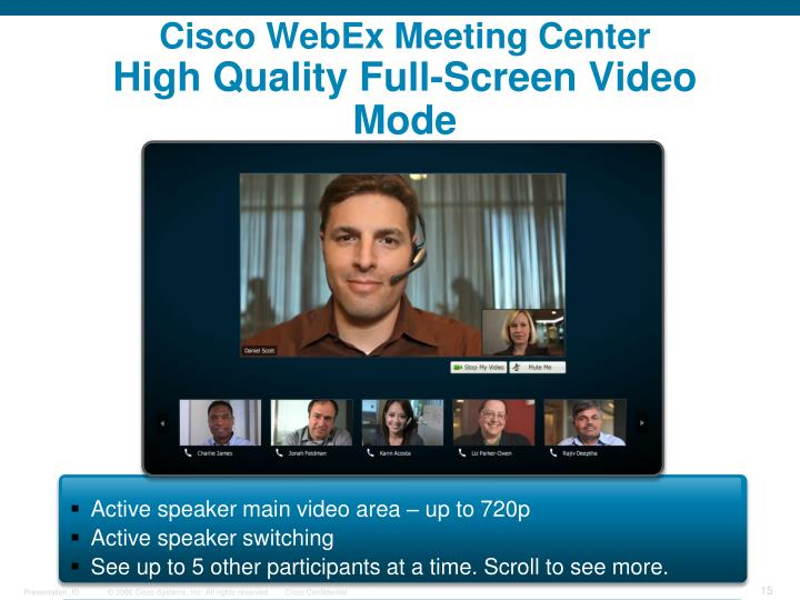 Cisco WebEx Meeting Center