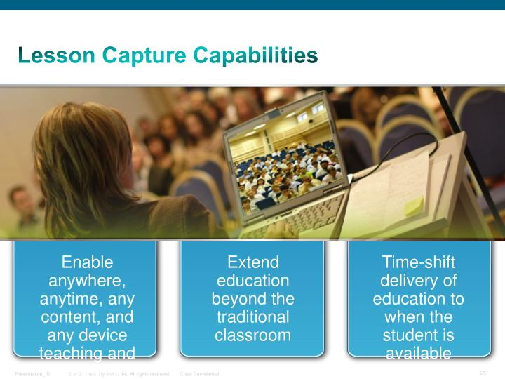 Lesson Capture Capabilities