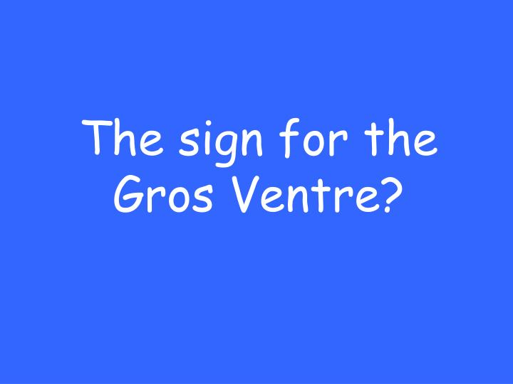 The sign for the Gros Ventre?