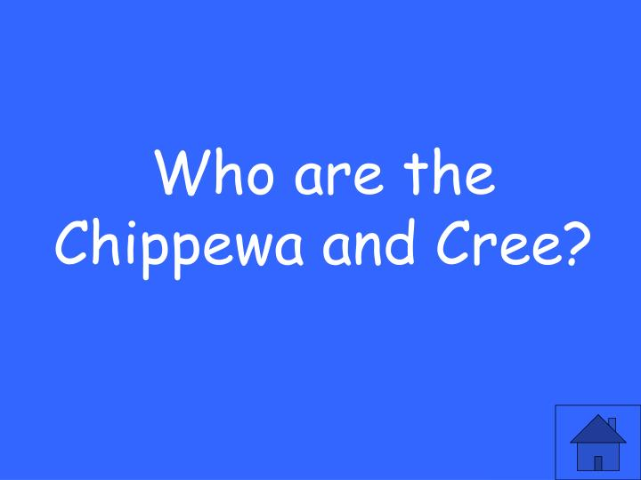 Who are the Chippewa and Cree?