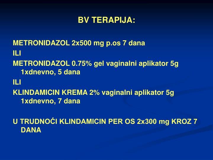 BV TERAPIJA:
