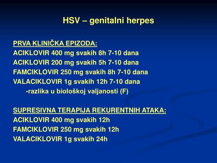 HSV – genitalni herpes