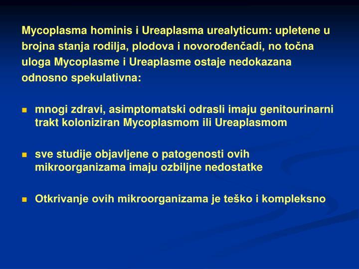 Mycoplasma hominis i Ureaplasma urealyticum: upletene u