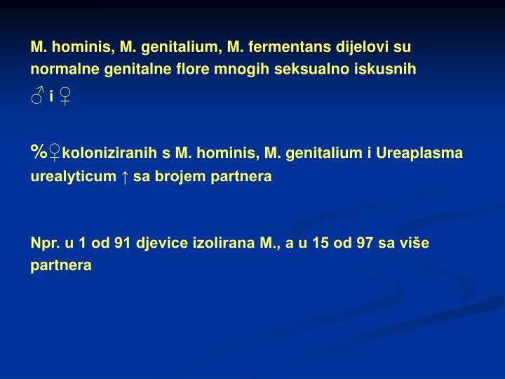 M. hominis, M. genitalium, M. fermentans dijelovi su