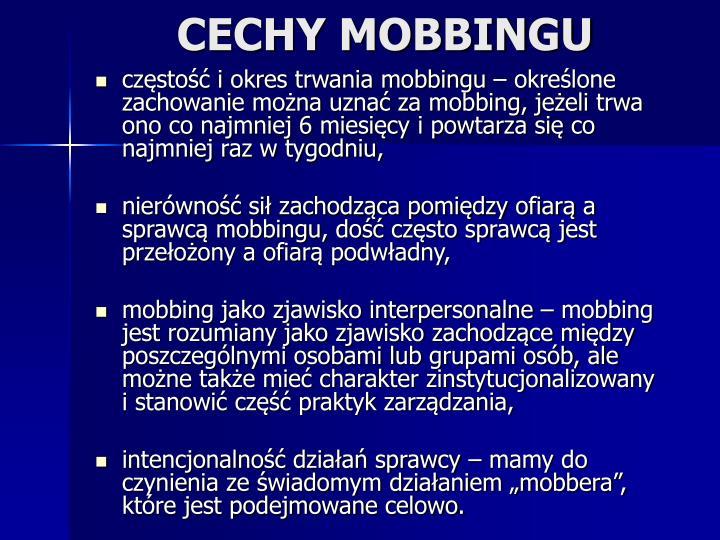 CECHY MOBBINGU