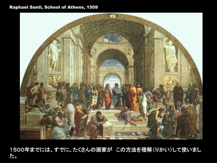 Raphael Santi, School of Athens, 1509