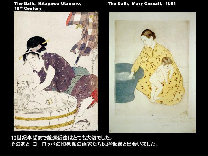 The Bath,  Kitagawa Utamaro,