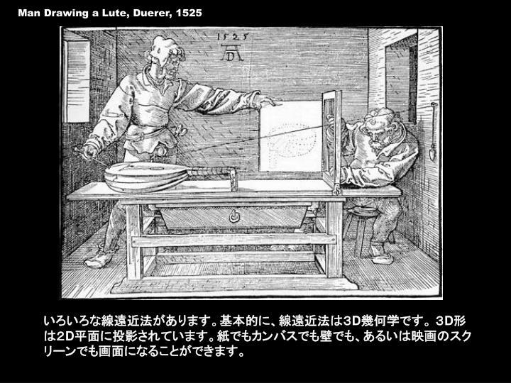 Man Drawing a Lute, Duerer, 1525