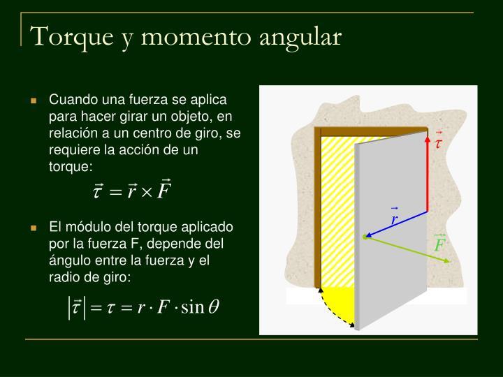 Torque y momento angular