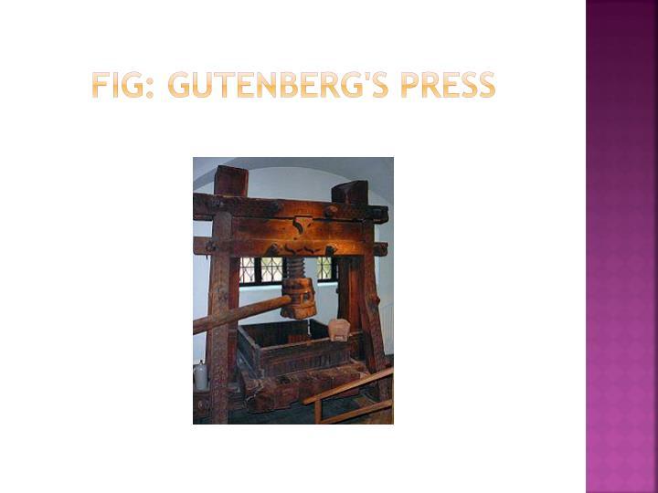 FIG: Gutenberg's press