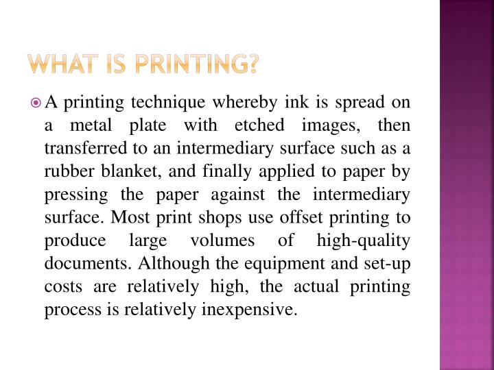 What is printing