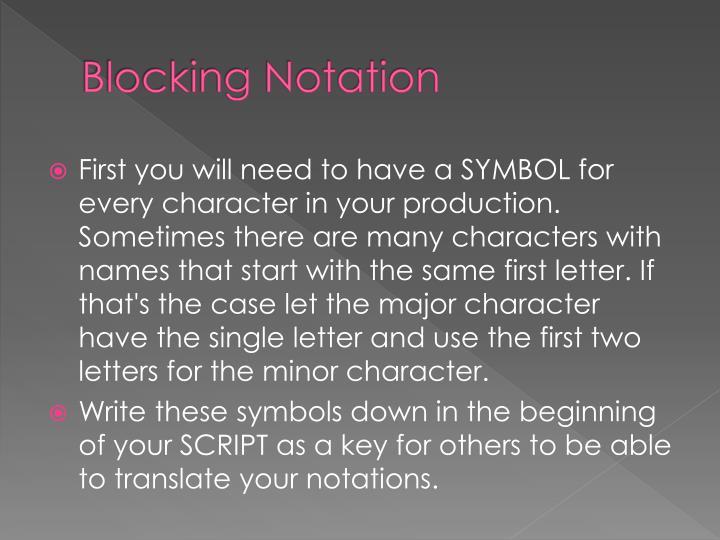 Blocking Notation