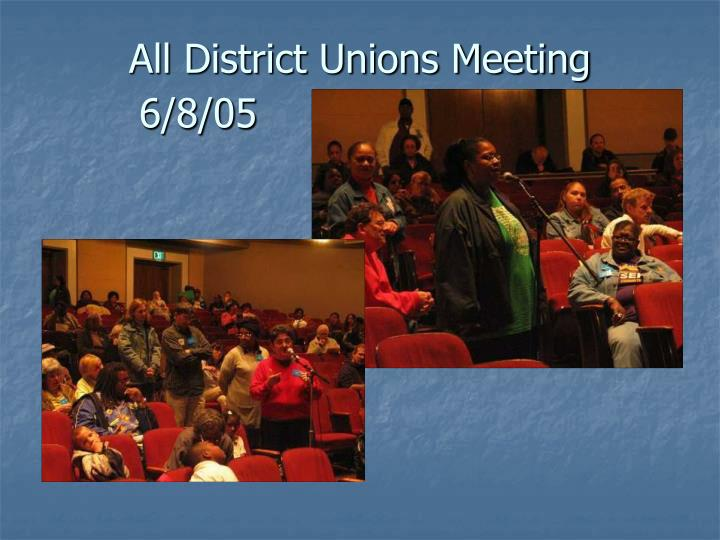 All District Unions Meeting