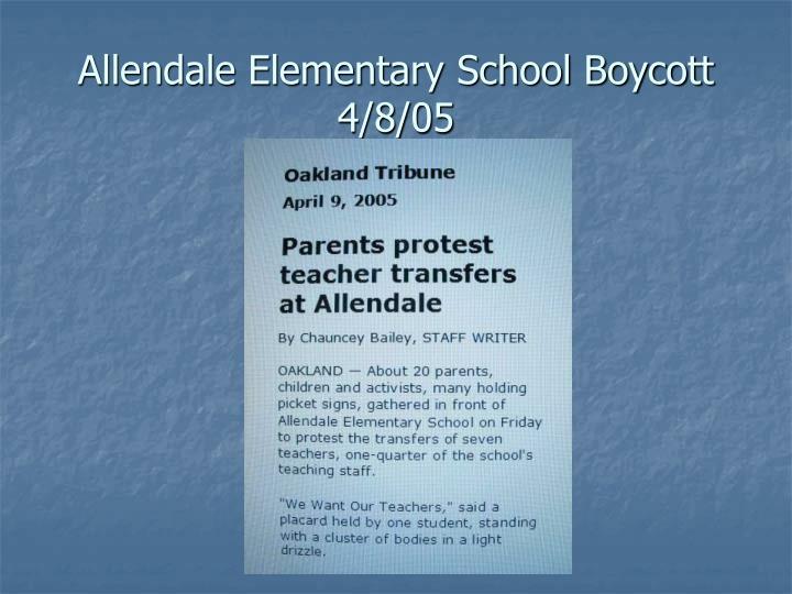 Allendale Elementary School Boycott