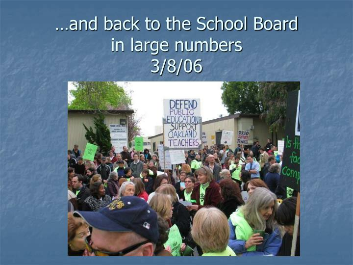 …and back to the School Board