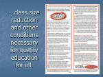 class size reduction and other conditions necessary for quality education for all