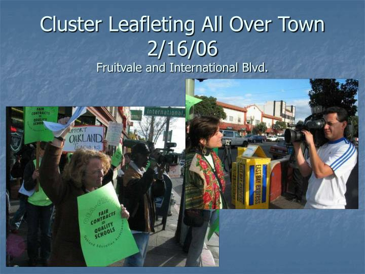 Cluster Leafleting All Over Town