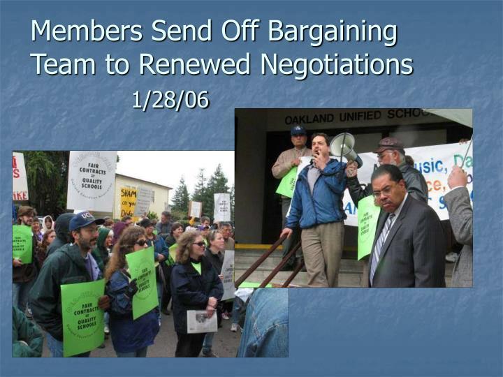 Members Send Off Bargaining Team to Renewed Negotiations