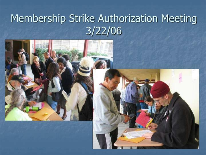 Membership Strike Authorization Meeting