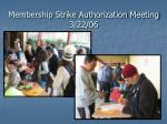 membership strike authorization meeting 3 22 06