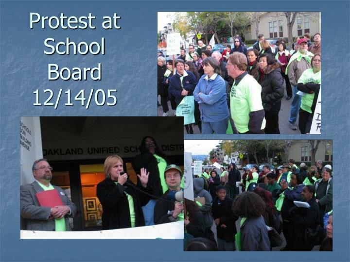 Protest at School Board 12/14/05