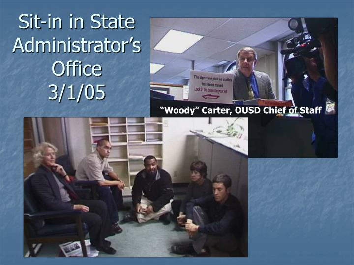 Sit-in in State Administrator's Office